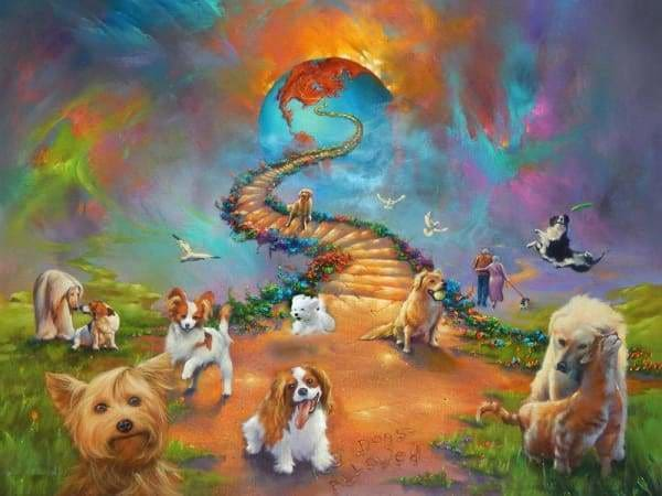 Religious Diamond Painting Kit - All Dogs Go To Heaven Bold Sky-Square 15x20cm- - Paint With Diamonds