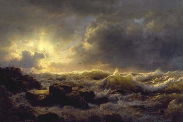 Ocean Diamond Painting Kit - Andreas Achenbach-Square 20x30cm- - Paint With Diamonds