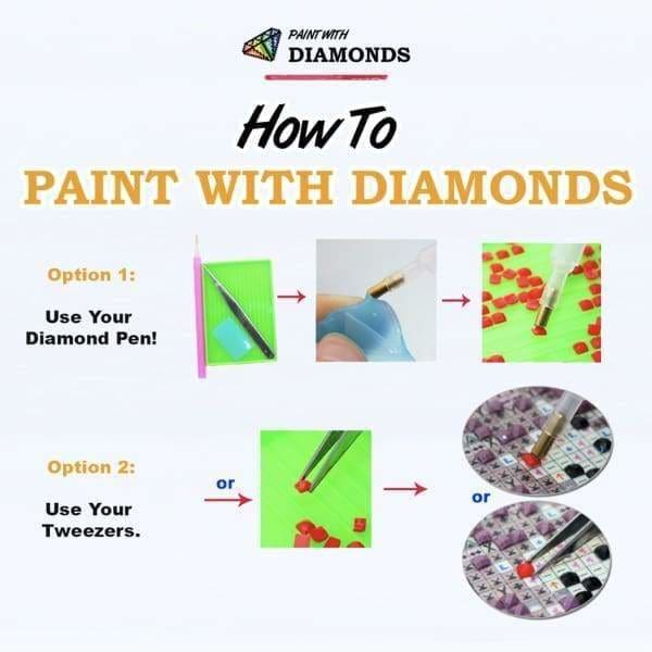 Waterfall Diamond Painting Kit - Beauty With Waterfall Hair-Square 15x20cm- - Paint With Diamonds