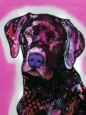 Dog Diamond Painting Kit - Black Lab- - Paint With Diamonds