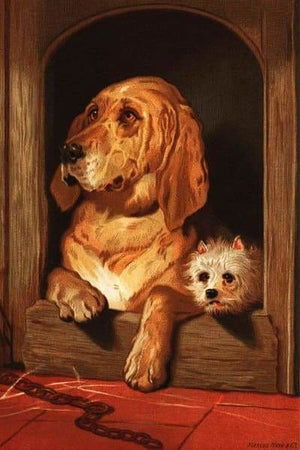 Famous Art Diamond Painting Kit - Bloodhound And A Terrier- - Paint With Diamonds
