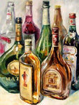 Afremov Diamond Painting Kit - Bottles-Square 15x20cm- - Paint With Diamonds
