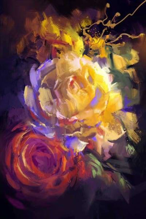 Flower Diamond Painting Kit - Bouquet Of Colorful Roses-Square 20x30cm- - Paint With Diamonds
