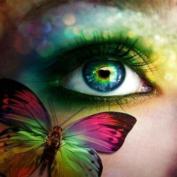 Fantasy Diamond Painting Kit - Butterfly In Your Eye-Square 20x20cm- - Paint With Diamonds