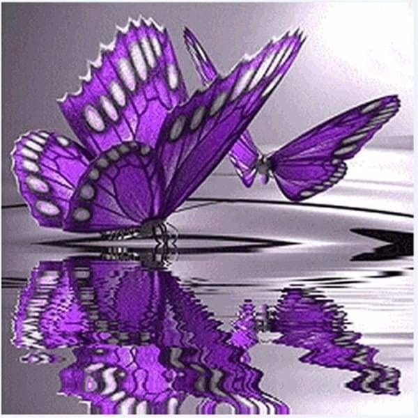 Butterfly Diamond Painting Kit - Butterfly Reflections- - Paint With Diamonds