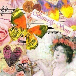 Music Diamond Painting Kit - Butterfly Song-Square 20x20cm- - Paint With Diamonds