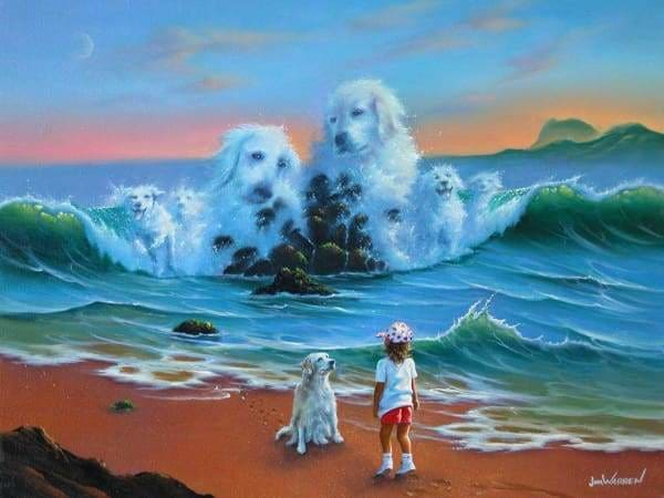 Jim Warren Diamond Painting Kit - Canine Companions-Square 15x20cm- - Paint With Diamonds