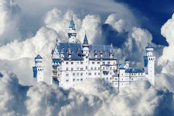 Landscape Diamond Painting Kit - Castle In The Clouds-Square 20x30cm- - Paint With Diamonds