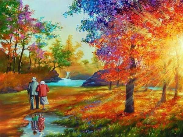 Tree Diamond Painting Kit - Childhood Sweethearts-Square 15x20cm- - Paint With Diamonds