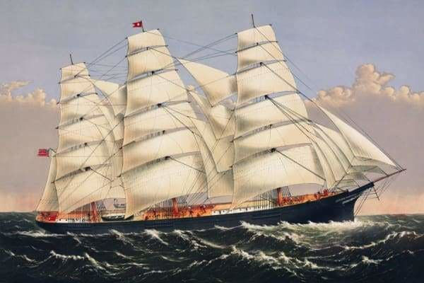 Boat Diamond Painting Kit - Clipper Ship-Square 20x30cm- - Paint With Diamonds