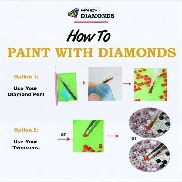 Fairy Diamond Painting Kit - Contemplative Wolf-Square 20x30cm- - Paint With Diamonds
