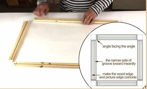 Diamond Painting Accessories - DIY Natural Wood Frame Stretcher Bars-20cm-20cm-