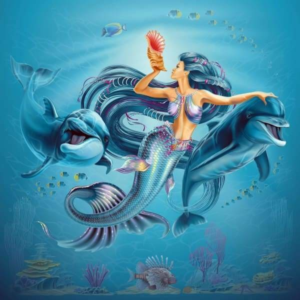 Mermaid Diamond Painting Kit - Down Where It's Wetter-Square 20x20cm- - Paint With Diamonds