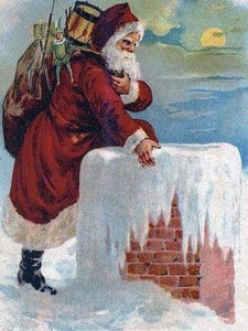 Christmas Diamond Painting Kit - Down Your Chimney-Square 15x20cm- - Paint With Diamonds