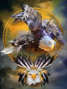 Fantasy Diamond Painting Kit - Eagle Dreams-Square 15x20cm- - Paint With Diamonds