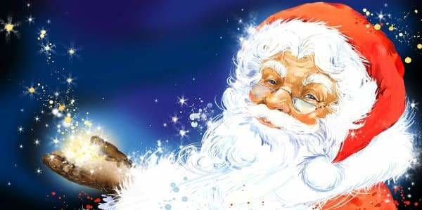 Christmas Diamond Painting Kit - Enchanted Santa-Square 40x20cm- - Paint With Diamonds