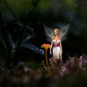 Fantasy Diamond Painting Kit - Fairy On The Forest Floor-Square 20x20cm- - Paint With Diamonds