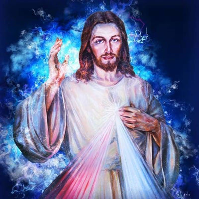 Religious Diamond Painting Kit - Faith In Jesus-Square 20x20cm- - Paint With Diamonds