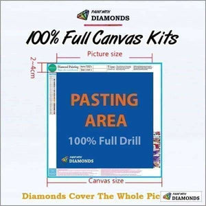 Love Diamond Painting Kit - Farewell To Anger-Square 20x30cm- - Paint With Diamonds