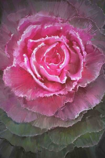 Flower Diamond Painting Kit - Flowering Cabbages-Square 20x30cm- - Paint With Diamonds