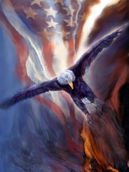 Eagle Diamond Painting Kit - Freedom Eagle-Square 15x20cm- - Paint With Diamonds