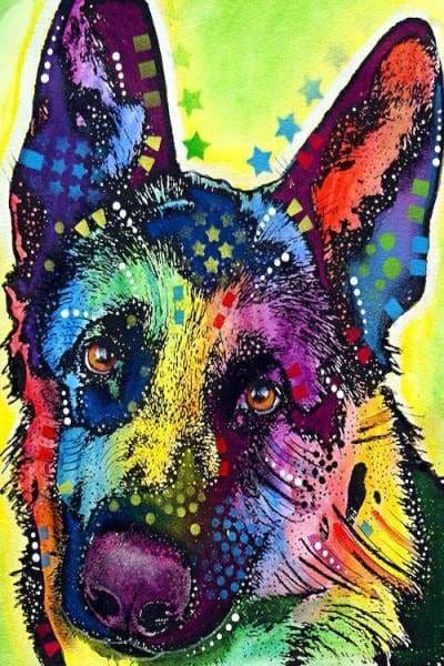 Horse Diamond Painting Kit - German Shepherd-Square 20x30cm- - Paint With Diamonds
