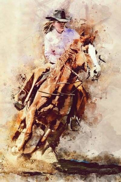 Horse Diamond Painting Kit - Giddy Up-Square 20x30cm- - Paint With Diamonds