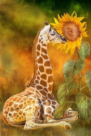 Safari Diamond Painting Kit - Growing Tall-Square 20x30cm- - Paint With Diamonds