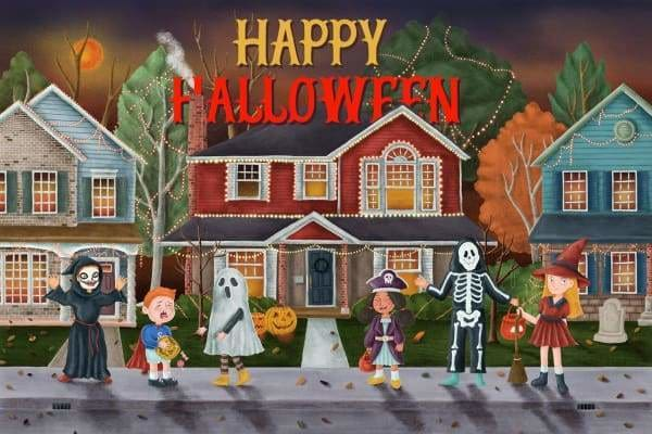 Halloween Diamond Painting Kit - Happy Halloween-Square 20x30cm- - Paint With Diamonds