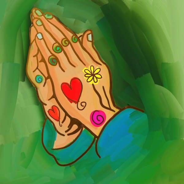 Religious Diamond Painting Kit - Hope And Prayer-Square 20x20cm- - Paint With Diamonds