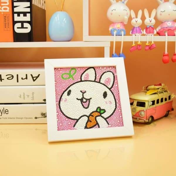 Kids Diamond Painting Kit - Hungry Bunny Diamond Beginner Kit-No Frame-15x15cm- - Paint With Diamonds