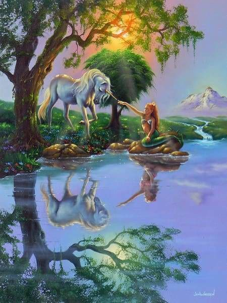 Unicorn Diamond Painting Kit - If Only You Believe-Square 15x20cm- - Paint With Diamonds