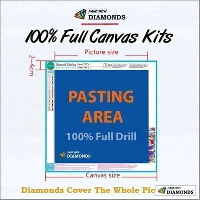 Ocean Diamond Painting Kit - In The Caribbean-Square 20x30cm- - Paint With Diamonds