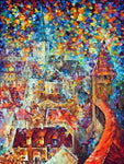 Afremov Diamond Painting Kit - Magical Castle-Square 15x20cm- - Paint With Diamonds