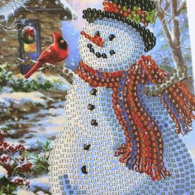 Christmas Diamond Painting Kit - Mega Value Christmas Cards - 8x Pack-8x Pack- - Paint With Diamonds