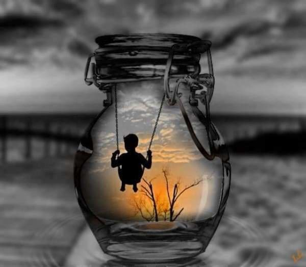 Sunset Diamond Painting Kit - Memories In A Jar-Square 20x20cm- - Paint With Diamonds