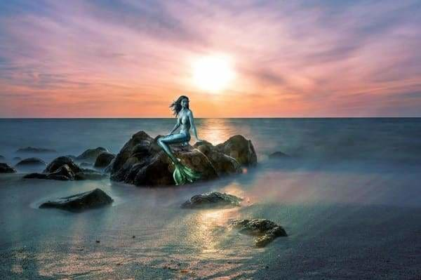 Sunset Diamond Painting Kit - Mermaid At Sunset-Square 20x30cm- - Paint With Diamonds