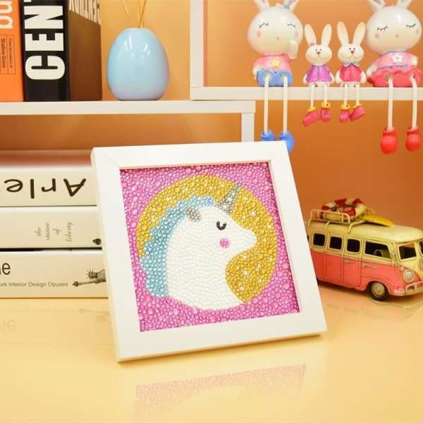 Kids Diamond Painting Kit - My Little Unicorn Crystal Diamond Beginner Kit-No Frame-15x15cm- - Paint With Diamonds