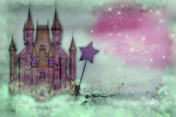 Fantasy Diamond Painting Kit - Mystic Fairycastle-Square 20x30cm- - Paint With Diamonds