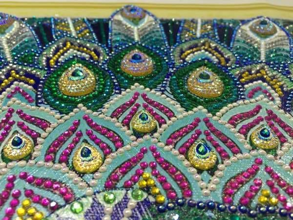 Peacock Diamond Painting Kit - Peacock Showcase (Crystal Diamonds - Special Shapes)-40x50cm- - Paint With Diamonds
