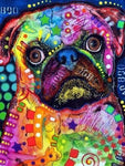 Abstract Diamond Painting Kit - Pug-Square 15x20cm-