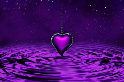 Love Diamond Painting Kit - Purple Heart Ripples-Square 20x30cm- - Paint With Diamonds