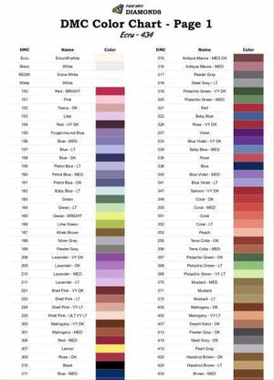 photo regarding Free Printable Dmc Color Chart named PWD Diamond Portray Log E-book with DMC Charts [Reserve]