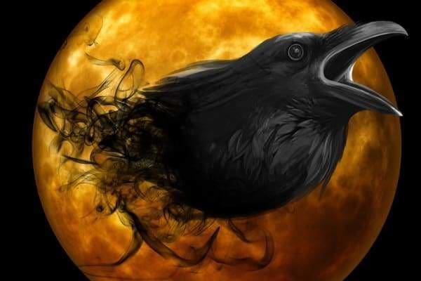 Halloween Diamond Painting Kit - Raven Emergence-Square 20x30cm- - Paint With Diamonds