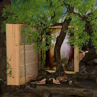 Tree Diamond Painting Kit - Reading And Relaxation-Square 20x20cm- - Paint With Diamonds