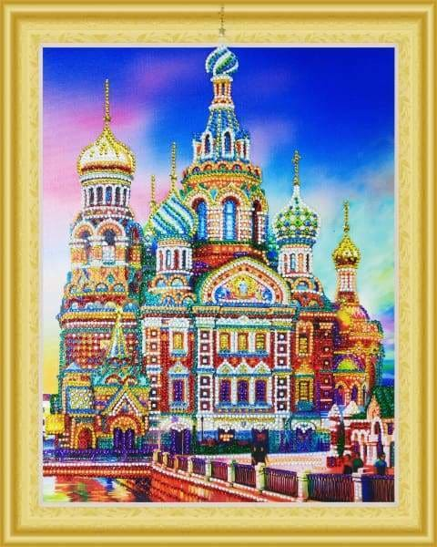 Partial Diamond Painting Kit - Saint Petersburg (Crystal Diamonds - Special Shapes)-40x50cm- - Paint With Diamonds