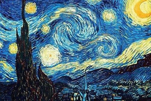 Landscape Diamond Painting Kit - *Ships From US* - Starry Night by Van Gogh XL - 60x40cm - Plus FREE Premium Double-Sided Pen- - Paint With Diamonds