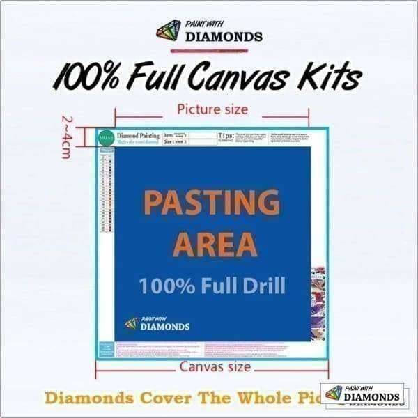 Boat Diamond Painting Kit - Shipwrecked-Square 20x30cm- - Paint With Diamonds