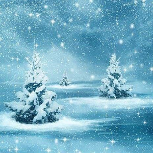 Nature Diamond Painting Kit - Silent Snowfall-Square 20x20cm- - Paint With Diamonds