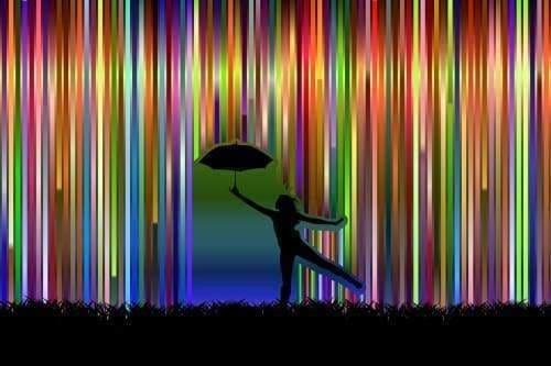 Rainbow Diamond Painting Kit - Singing In The Rain-Square 20x30cm- - Paint With Diamonds